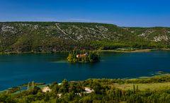 Visovac See, Nationalpark Krka, Dalmatien, Kroatien