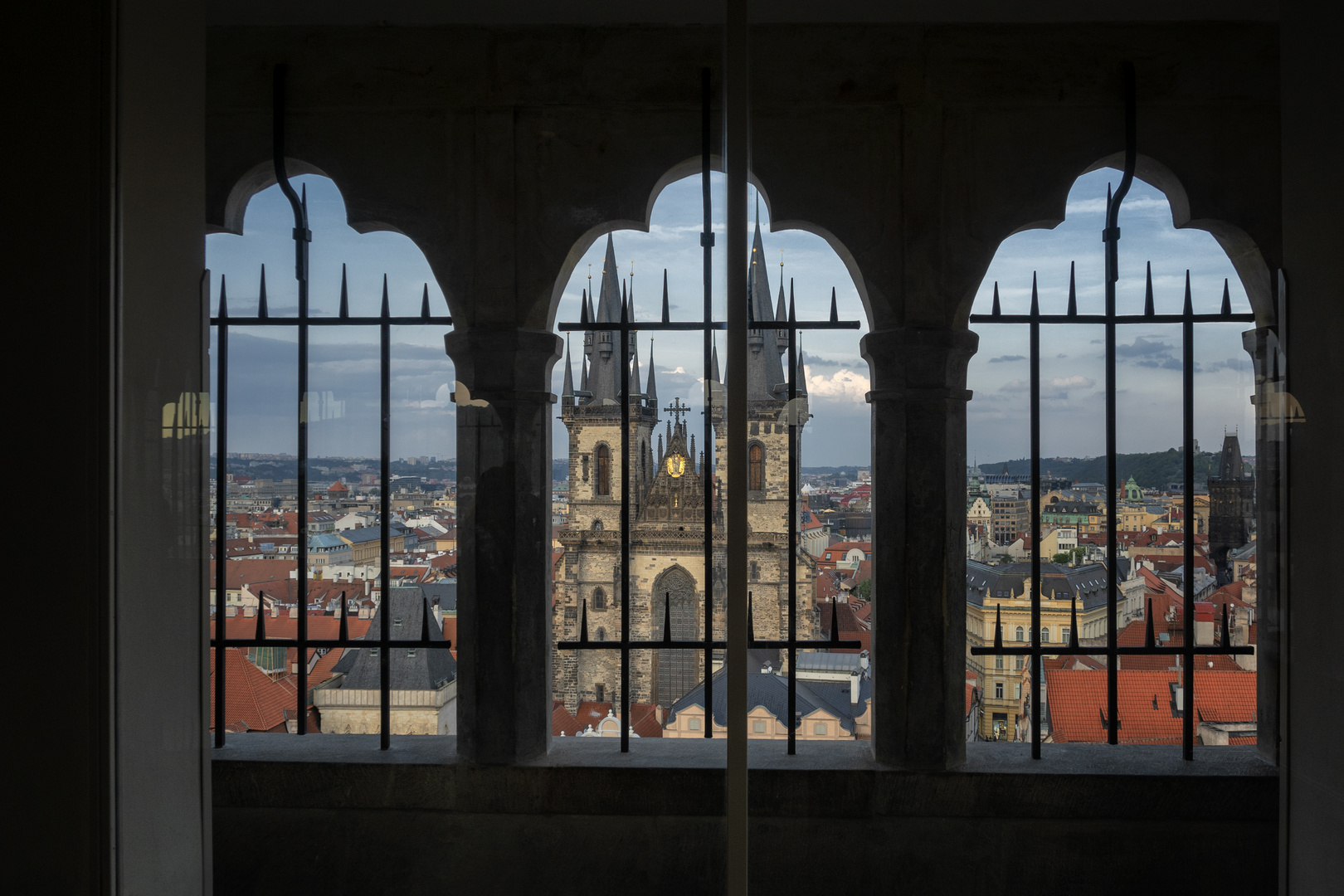 Vista dalla torre del municipio di Praga