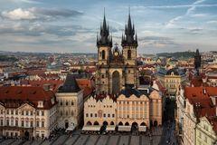 Vista dalla torre del municipio, Praga