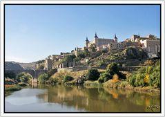 Vista de Toledo (Alcázar y puente de Alcántara) desde el Tajo GKM5-II