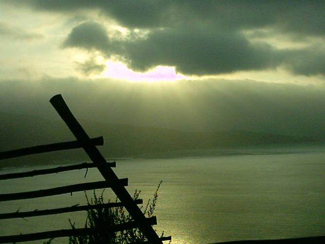 Vista desde el camino hacia Laguna Verde. Valparaíso