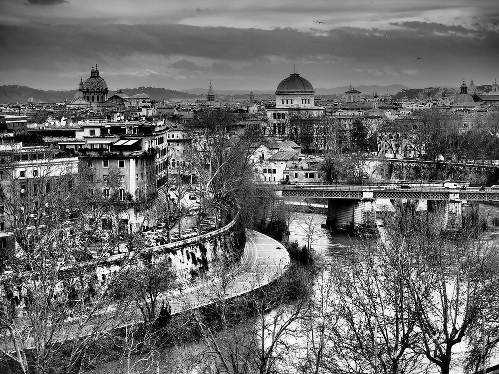 vista su Roma in marzo
