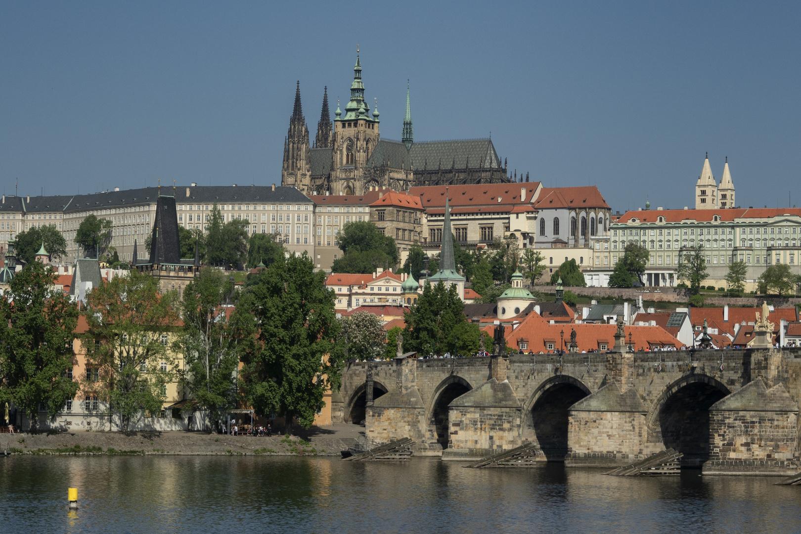 Vista sul castello di Praga