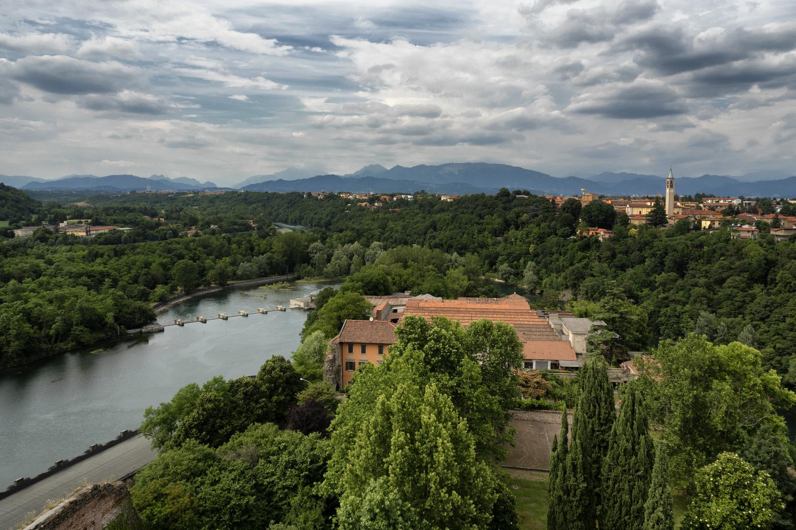Vista sul fiume Adda