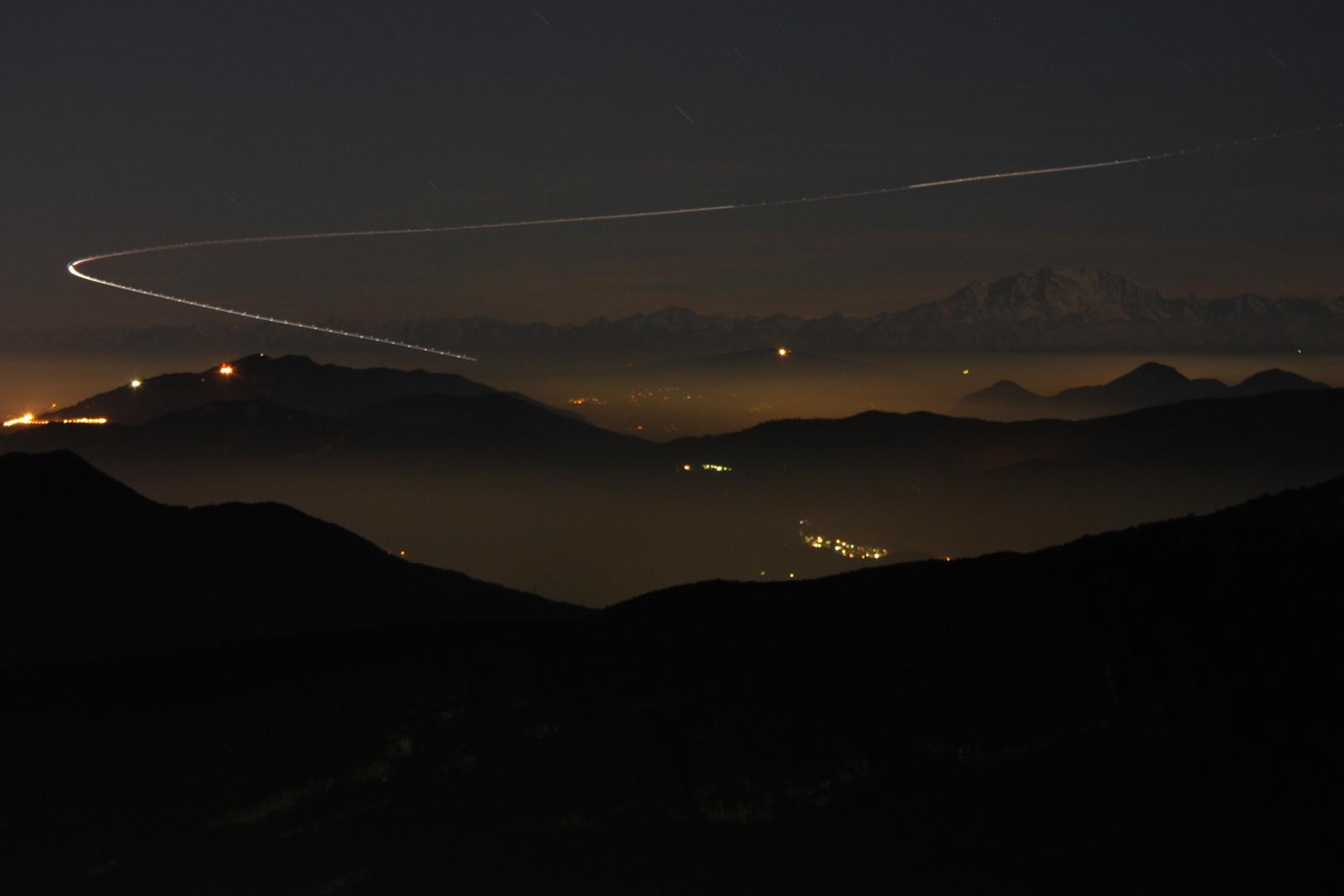 Vista sul Monte Rosa con ... decollo
