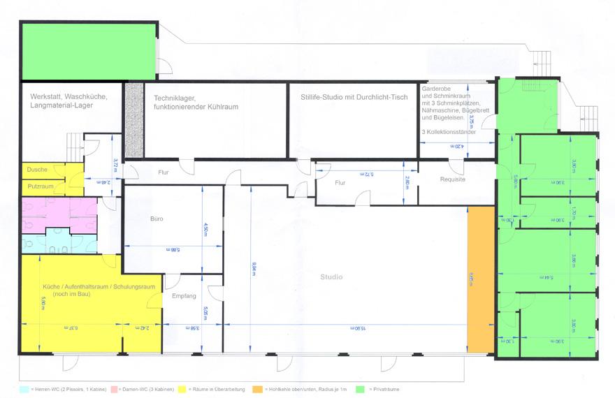 Visual Pursuit Mietstudio Düsseldorf - Studiogrundriss