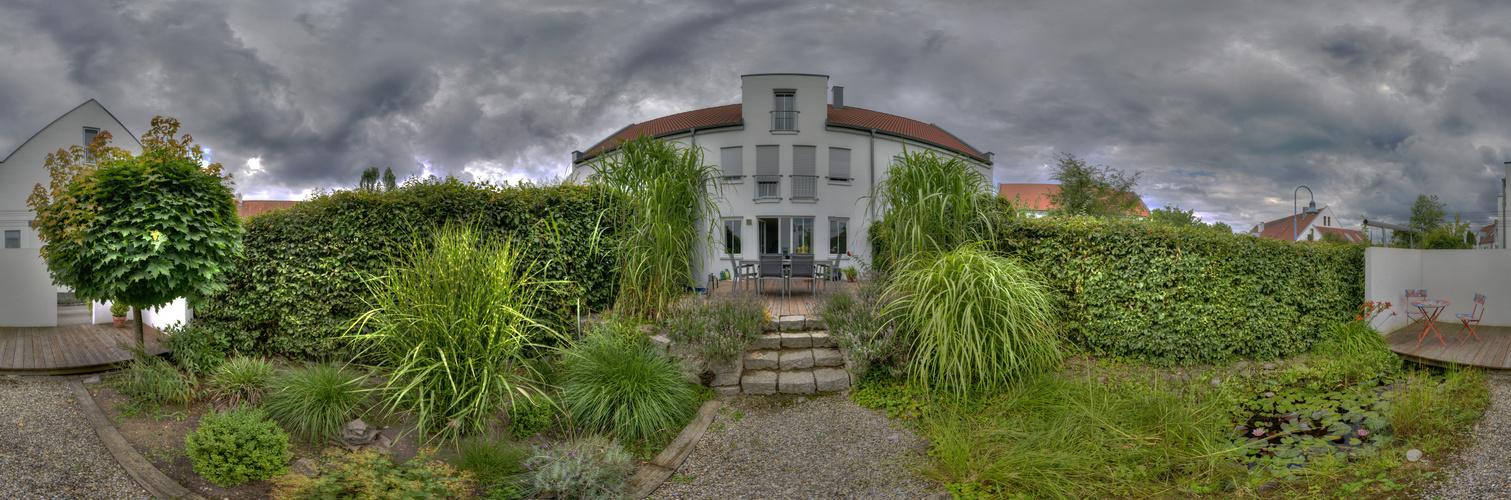 Visuelle Verbreiterung eines Reihenmittelhaushandtuchgartens ;-)