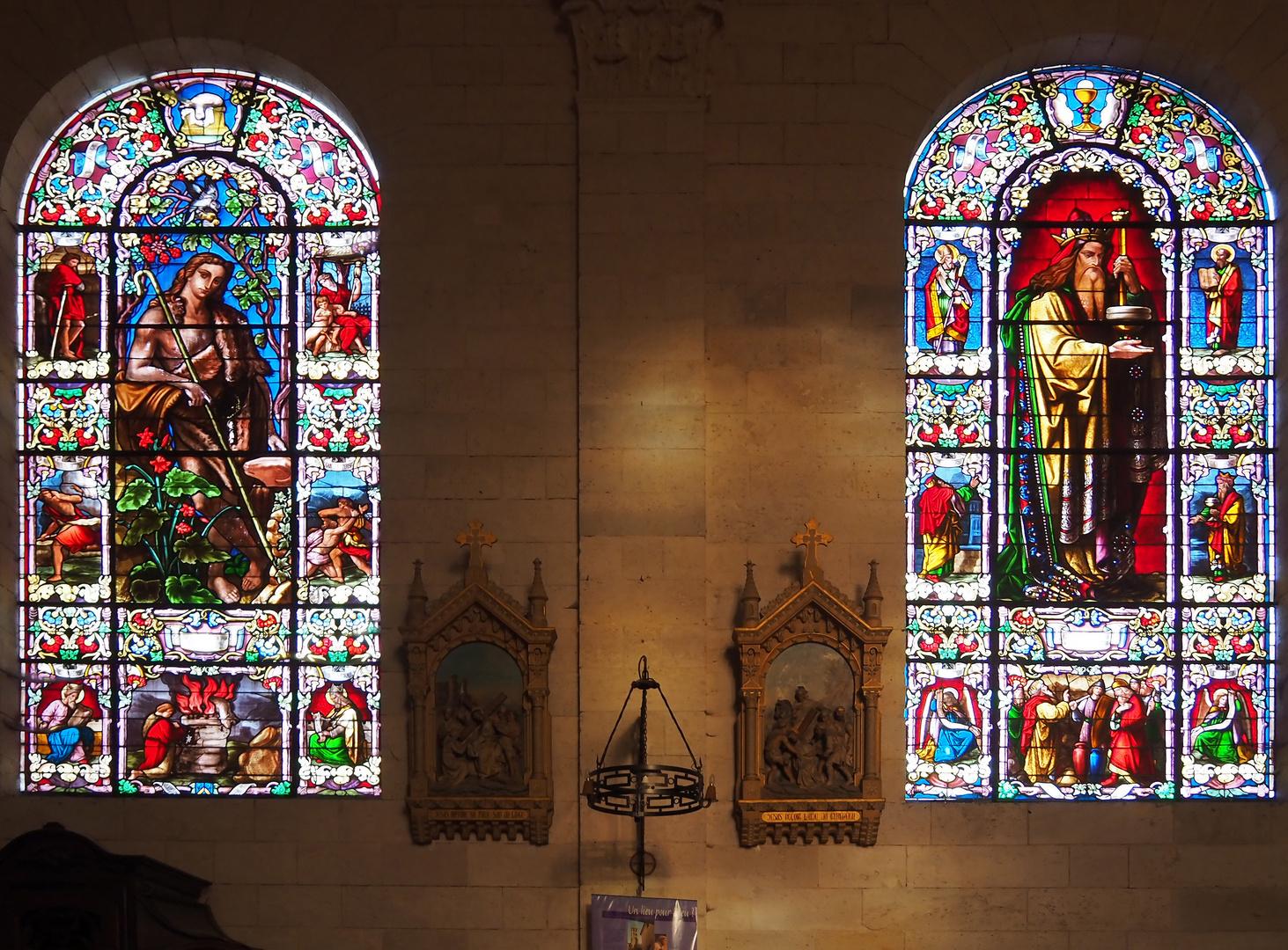 Vitraux de l'Eglise Saint-Nicolas de Nérac (Joseph Villiet - 1856)