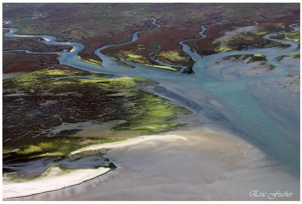 Vogelinsel Memmert, Südteil, aus 400 Metern Höhe