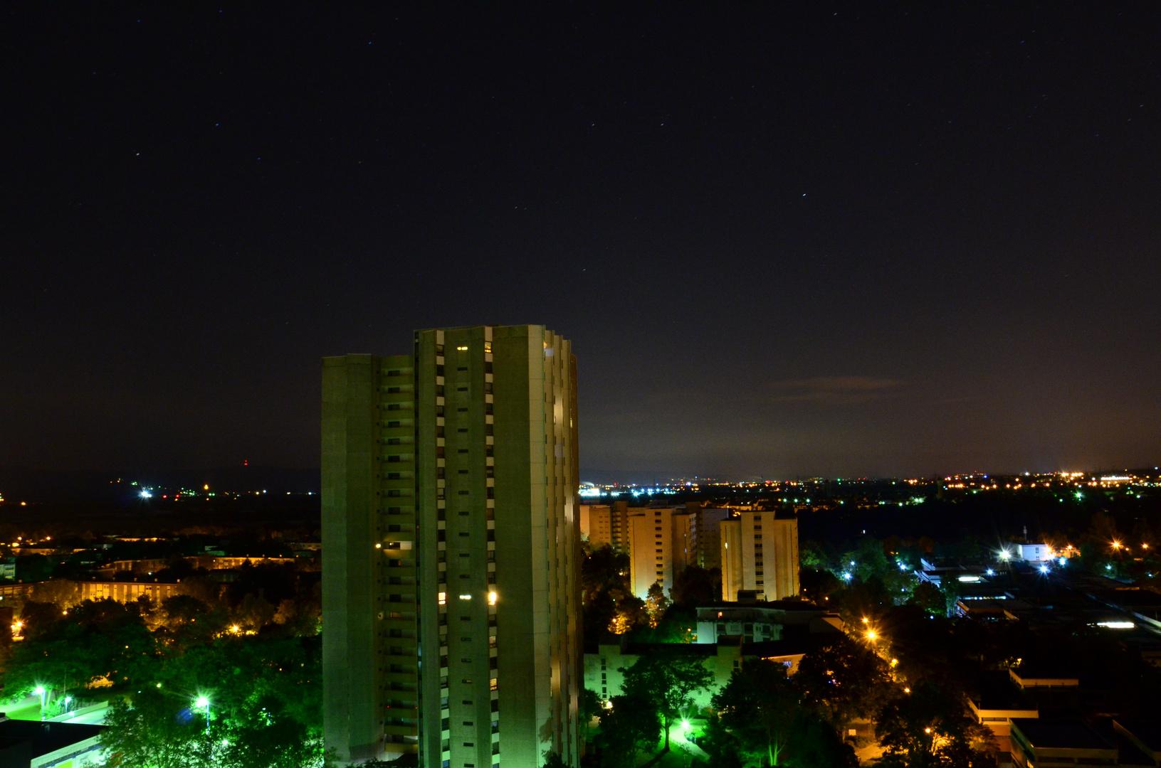 Vogelstang bei Nacht