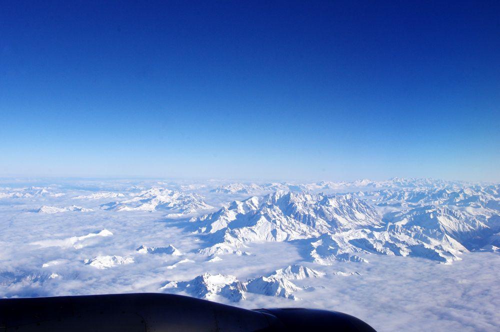 Vol au-dessus des Alpes