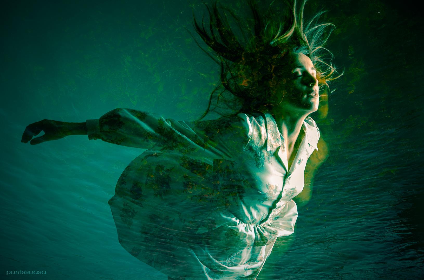 Volando en el agua