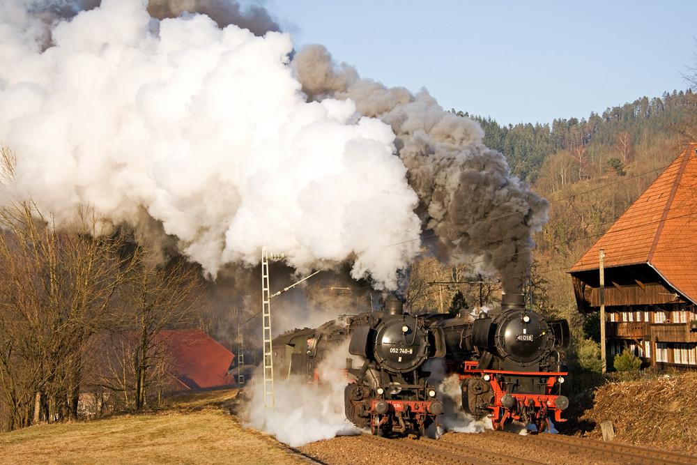 Volldampf auf der Schwarzwaldbahn