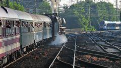 Volldampf voraus! Sonderzug mit Eisenbahnfreunden unterwegs zur Nordsee.
