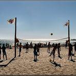 Volleyball di spiaggia.