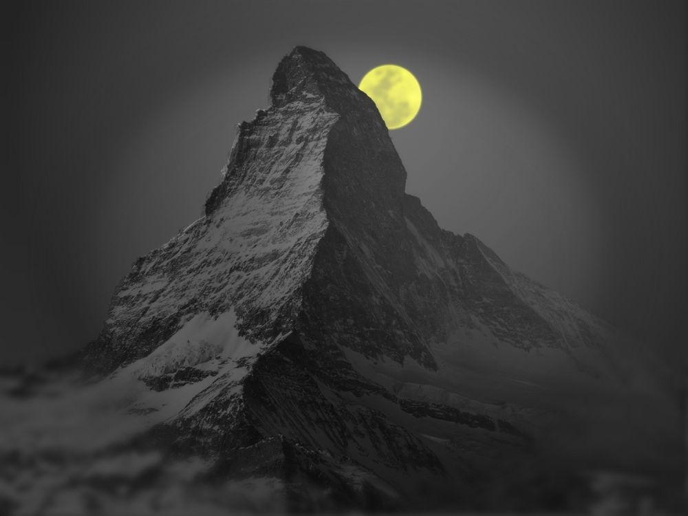 Vollmond am Matterhorn