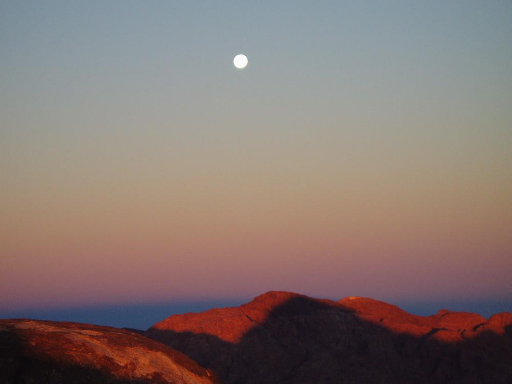 Vollmond auf dem Mount Sinai