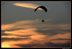 ..volo...al tramonto...