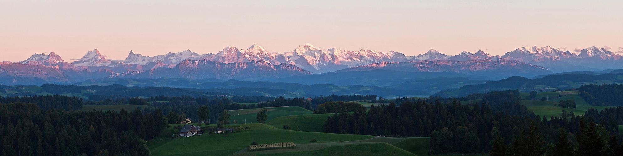 Vom Emmental in die berner Alpen