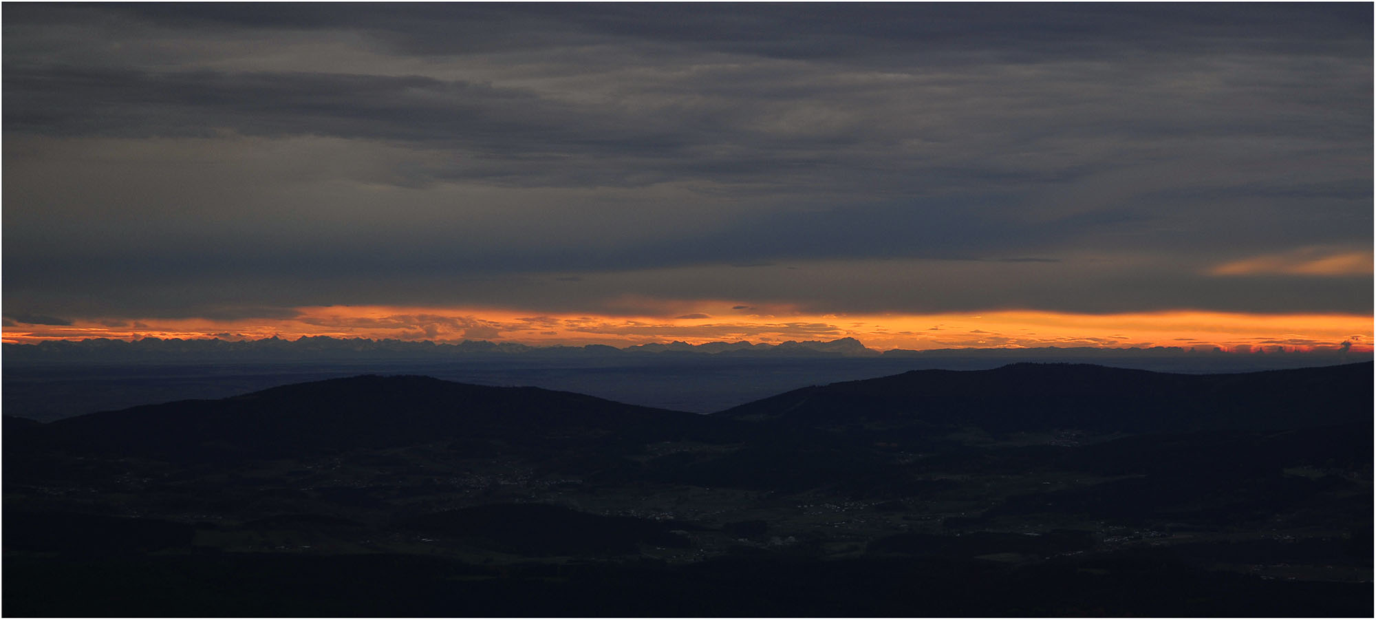 Vom Großen Arber Blick Richtung Alpen