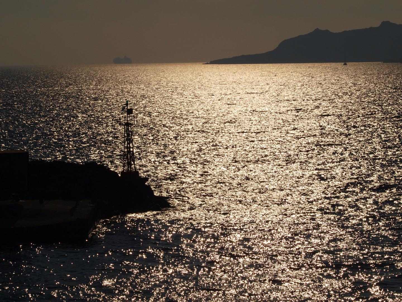 Vom Hafen in Santorini, vor der Rückfahrt nach Kreta