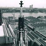 Vom Kölner Dom Richtung Ludwig Museum+Hohenzollernbrücke (1986)