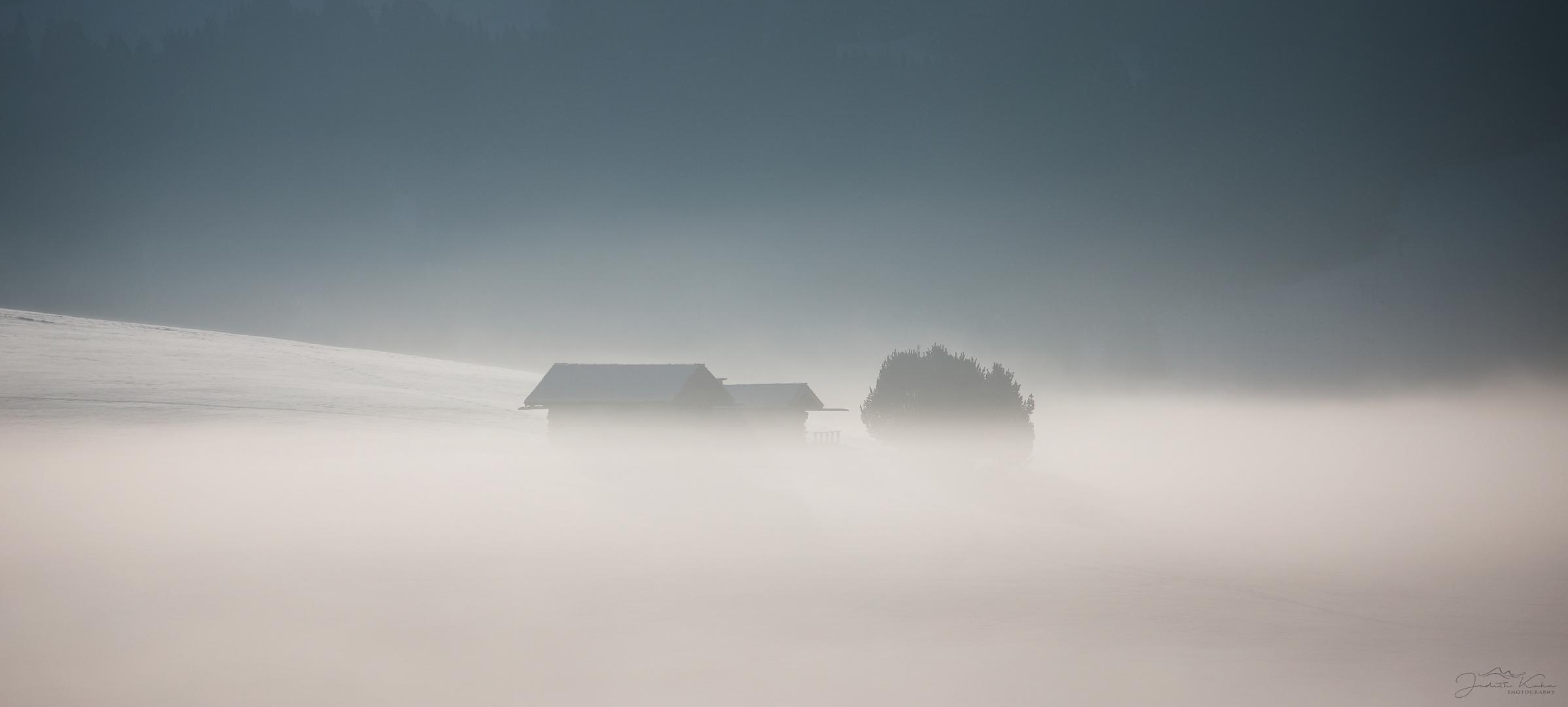 vom Nebel verschluckt