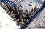 Vom Vierungsturm des Kölner Doms 90° nach unten fotografiert