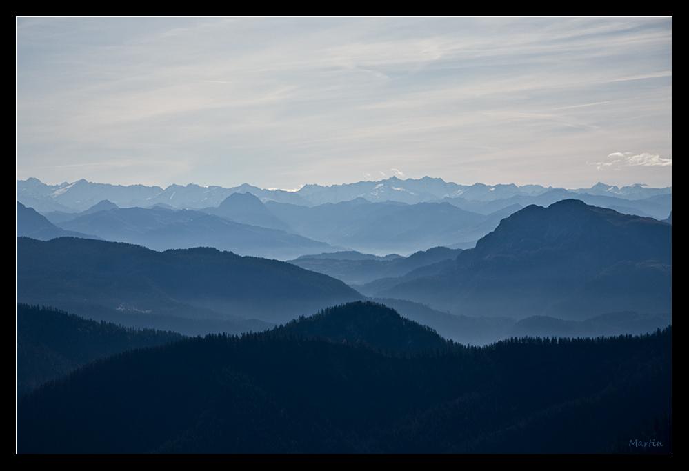 Von den blauen Bergen ...
