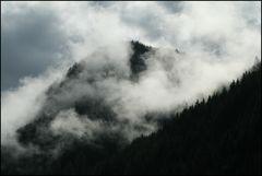 Von den Nebelschleiern beinahe verschluckt....
