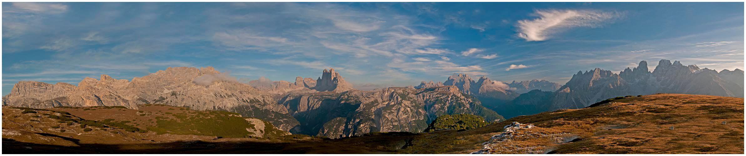 Von den Toblacher Bergen bis zum Cristallomassiv....