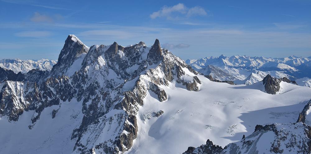 Von der Aiguille du Midi aus gesehen