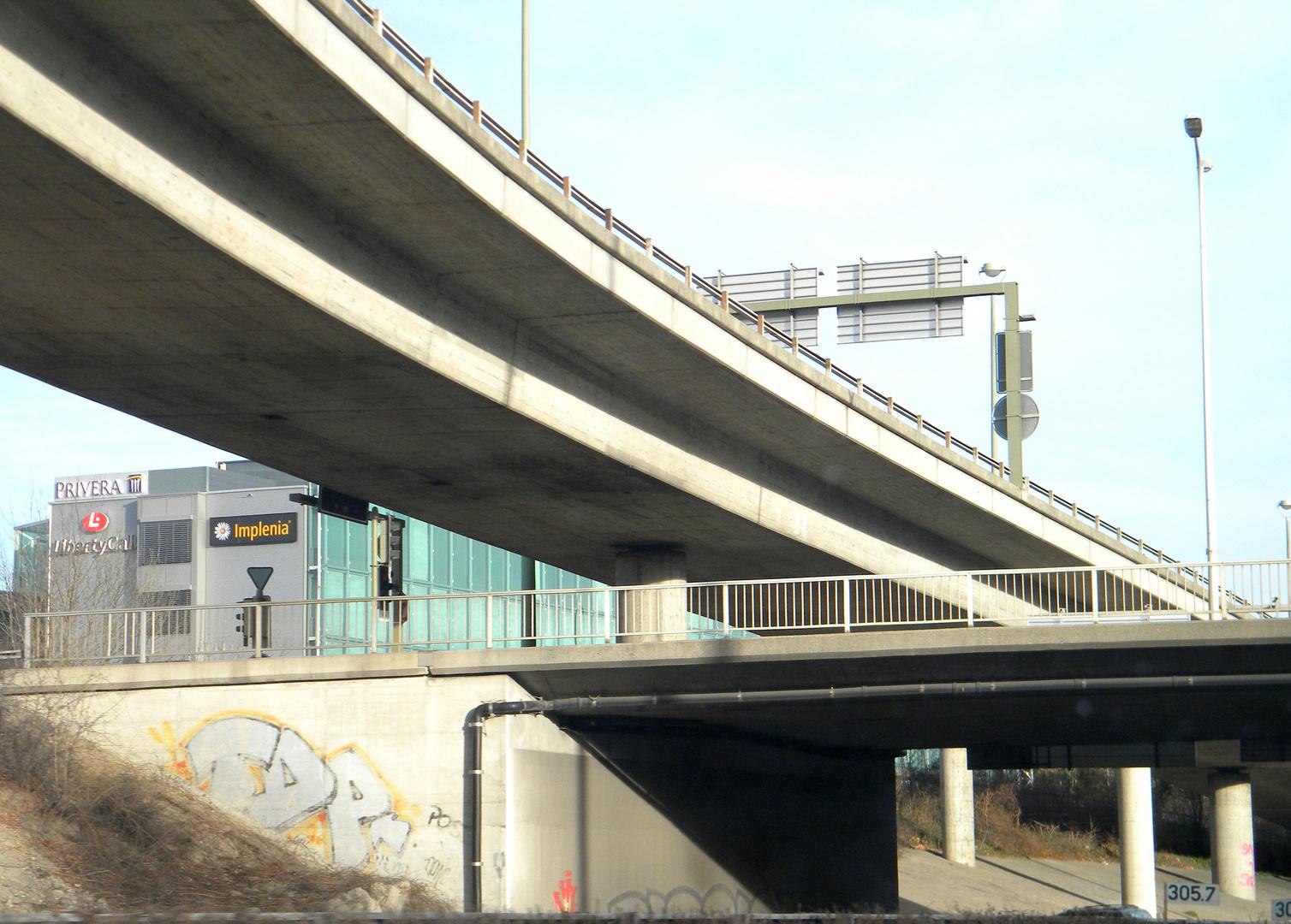 Von der Autobahn wärend der fahrt fotografiert