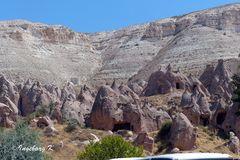 Von Erosion geprägte Landschaft