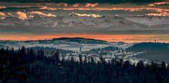 Von Finsterau über das Alpenvorland bis hin zu den Alpen - ein weiter Blick