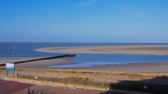 Von heute morgen 9 Uhr,14.03.20: Borkums Hauptstrand und Sandbank bei ziemlichem Niedrigwasser