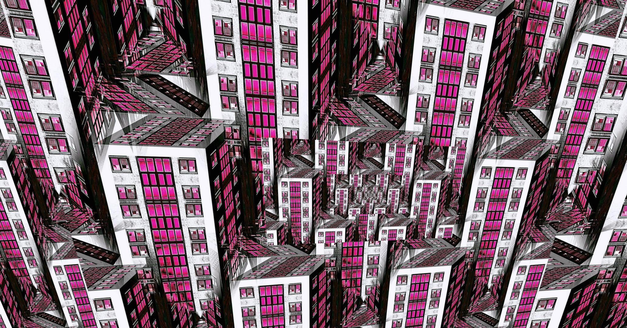 Von Oben - Pink Lighted City XX