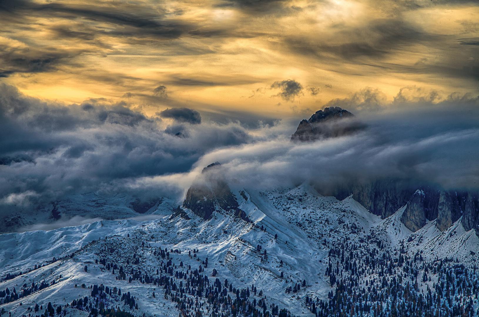 Von Wolken umhüllt