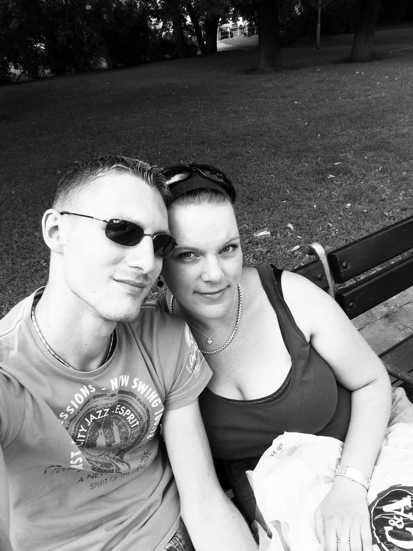vor dem Bahnhof Prag
