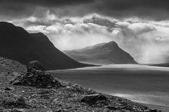 Vor dem Gewitter am Fjord