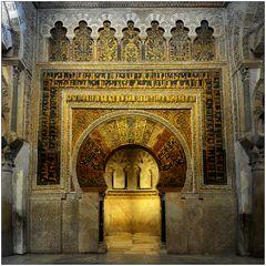 Vor dem Mihrab der Mezquita