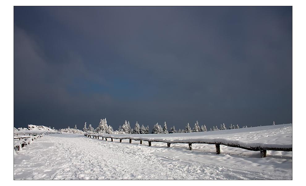 Vor dem Schneesturm