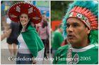 Vor dem Spiel Japan-Mexiko am 16.06.05