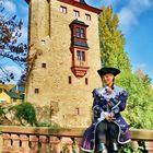 Vor dem Wasserschloss Vollrads im Rheingau