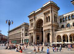 Vor der Galleria Vittorio Emanuele II