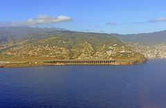 Vor der Landung in Funchal auf Madeira