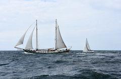 Vor Warnemünde während der Hanse Sail 2017