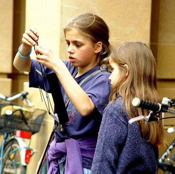 Vorbereitung zum Flötenspiel