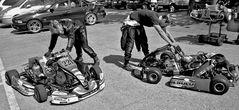 Vorbereitungen für das Kart-Race
