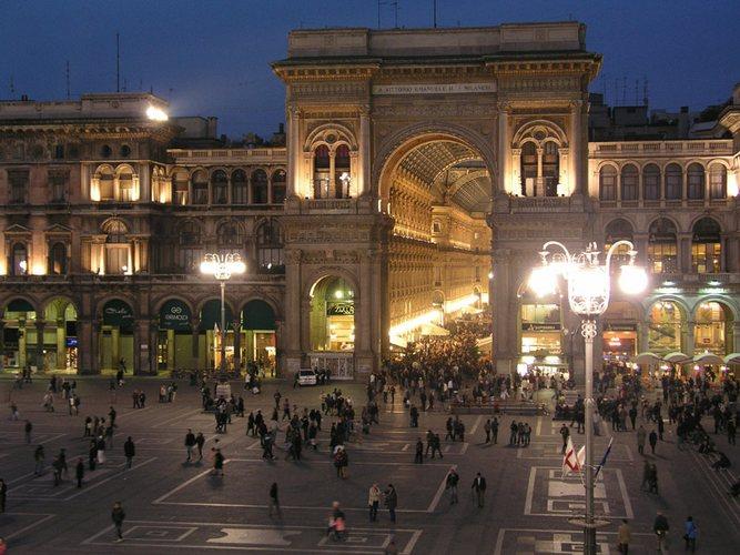 Vorplatz vom Dom in Mailand